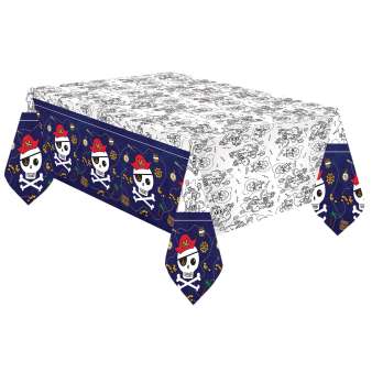 Paper Tablecover Pirates Map 120 x 180 cm
