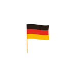 Flag Germany w.rod 50x70 cm