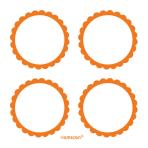5 Sheets of Labels Orange Peel5.1 cm