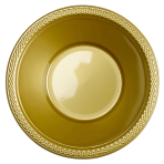 10 Bowls Plastic Gold 355 ml