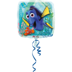 "Standard ""Finding Dory"" Foil Balloon Square S60 packed, 43 cm"