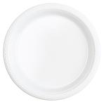 20 Plates Frosty White Plastic Round 17.7 cm