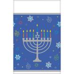Tablecover Eight Happy Nights Hanukkah Plastic 137 x 243 cm