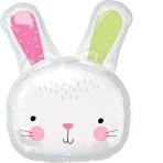 SuperShape Hello Bunny Foil Balloon P35 packaged 60 cm x 71 cm