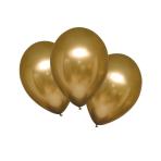 "6 Latex Balloons Satin Luxe Gold Sateen 27.5cm/11"""
