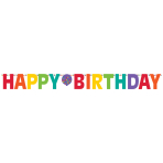 Letter Banner Birthday Accessories Rainbow 320 cm