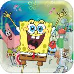 8 Plates SpongeBob Square Paper 23cm