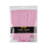 Table Skirt New Pink Plastic 426 x 73 cm