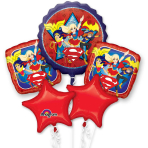 "Bouquet ""DC Super Hero Girls"" Foil Balloon, P75, packed"