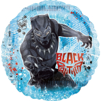 Jumbo Black Panther Foil Balloon P38 packaged