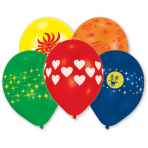 8 Latex Balloons Global Print Assorted 25.4 cm/10''
