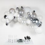 DIY Balloon Garland Silver 66 Balloons 4 m