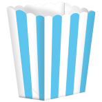 5 Treat Boxes Stripes Carribean Blue 9.5 x 13.5 cm