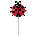 Mini Shape Happy Ladybug Foil Balloon A30 Air Filled