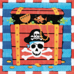 16 Napkins Pirates Treasure 33x 33 cm