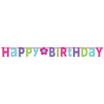 Giant Letter Banner Birthday Accessories - Pink & Teal
