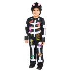 Child Costume Peppa Skeleton Age 3-4 Years
