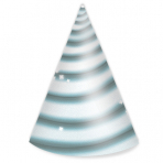 8 Party Cone Hats Unicorn Paper Height 15.8 cm