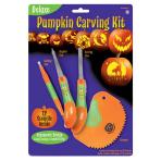 Pumpkin Cutter Set Halloween 16 Pieces (4 Carving Tools, 12 Stencils)