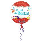 Standard Du bist der Beste Foil Balloon round S40, packed 43cm