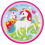 8 plates Unicorn 23cm