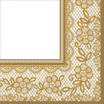 16 Lunch Napkins Delicate Lace 33 cm