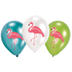 6 Latex Balloons Flamingo Paradise 27.5 cm / 11""