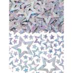 Confetti Star Shimmer Silver Foil 14 g