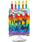 Supershape Iridescent Cake Foil Balloon P40 packaged