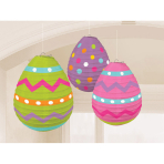 3 Lanterns Easter Egg Paper 24.1 cm