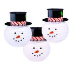 3 Lanterns Snowmen Paper 24.1 cm
