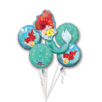 "Bouquet ""Ariel Dream Big"" 5 Foil Balloons, P75, packed"