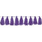 Tassel Garland Purple 3 m