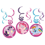 6 Swirl Decorations My Little Pony 2017 Foil / Paper 61 cm