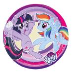 8 Plates My Little Pony - 2017 Paper Round 17.7 cm