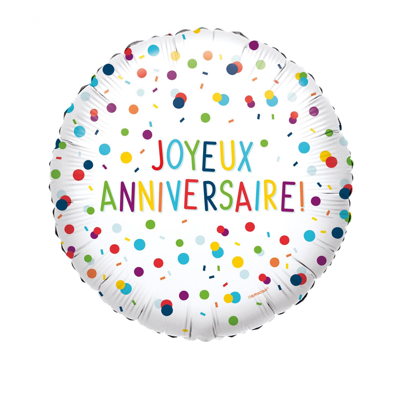 Amscan Joyeux Anniversaire Garçon Cercle Foil Balloon HS40
