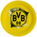 8 Plates BVB Dortmund Round Papier 23 cm