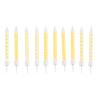 10 Spiral Candles Dots & Chevron Sunshine Yellow Height 6.3 cm