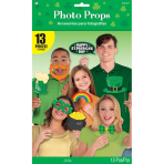Photo Booth Kit St. Patrick's Day Paper / Plastic 13 Pieces 35.5 x 21.5 cm