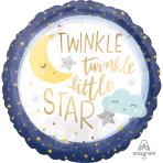 Standard Twinkle Little Star Foil Balloon S40 packaged