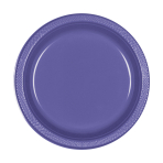 20 Plates New Purple Plastic Round 17.7 cm