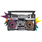 SuperShape Totally 80's Boombox Foil Balloon P35 Packaged 88x 43 cm