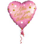 Standard Mother's Day Heart German Wording Foil Balloon S40 packaged 43cm