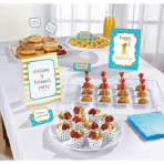 Buffet Decoration Kit 1st Birthday Blue 12 Parts Paper / Woo