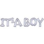 CI: Phrases Block Phrase It's A Boy Holographic Foil Balloon G20 Packaged