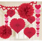 Decoration Kit Valentine's Day Paper 9 Pieces 365 cm / 40.6 cm / 91 cm / 30.4 cm