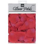 300 Confetti Rose Flower Petals Red Fabric 5.8 x 5.3 cm