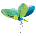 UltraShape Cute Dragonfly Foil Balloon P40 Packaged 101 x 79cm