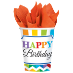 8 Cups Bright Birthday Paper 266 ml