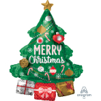 "Multi-Balloon ""Christmas Tree Garland"" Foil Balloon P45 packed 63 x 86cm"